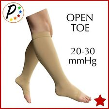 Presadee Open Toe 20-30 mmHg Compression Big Tall Wide Calf Traditional Socks