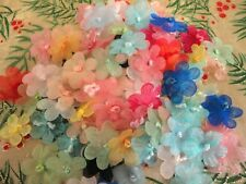 "Single Organza Ribbon Flower Crafts Sewing Applique 100 pcs BX030A 5/8"""