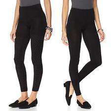 Joan Boyce Women's 2-pack Footless Fleece Tights Black X-Large/1X Plus Size HSN