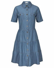 Jeanskleid Kleid Hemdblusenkleid blue denim von Cheer Gr. 46