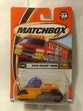 Matchbox Earth Crunchers Road Roller Paver #36 of 75 Mattel 1:64 Scale Diecast