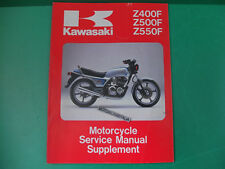 KAWASAKI z400 KZ500 z500 kz manuale officina supplement owner's service manual
