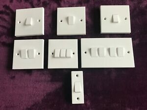 1 Gang 2 Gang 3 Gang 4 Gang Architrave and intermediate Light Switch Wall Switch