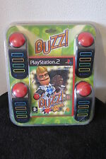 PS2 : BUZZ ! THE SPORTS QUIZ + BUZZER - Nuovo, sigillato, ITA ! Gioco + Buzzers