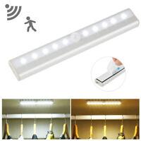 10/24 LED PIR Sensor Night Light Mini Lamp Cabinet Closet Bookshelf USB Charging