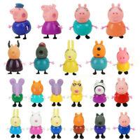 21Pcs Peppa Pig Cartoon Figures Toys Teacher Dog Rabbit Family Friends kids gift