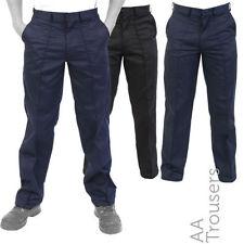 Pantaloni da uomo beige in cotone a gamba dritta