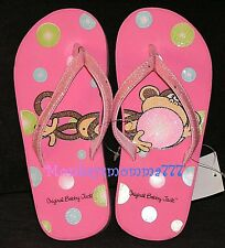 Original Bobby Jack Monkey Flip Flops Sandal Shoes Girls size MEDIUM 1/2 NWT!