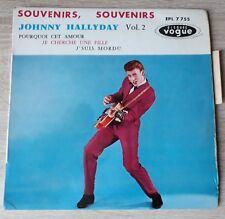 languette centreur Variante JOHNNY HALLYDAY Souvenirs souvenirs 1960 EP Dillard