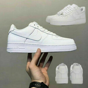 NEW AIR FORCE 1'07 Sneaker Women Men Sports Shoes Sneakers White Leather UK SALE