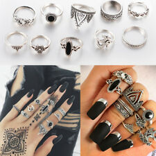 10pcs/Set Boho Yinyang Corona Nudillo anillo Midi Rings Anillos Ring