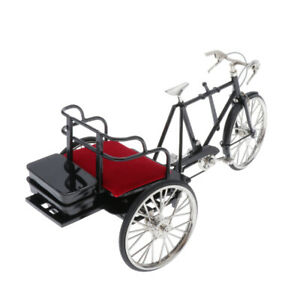 1/6 Alloy Tricycle Bike Metal Model Diecast Vehicles Cycling Kids Boy Toys