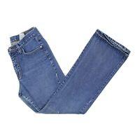 VTG C'est Toi Womens Medium Wash High Waist Flare Bootcut Mom Jeans Size 11