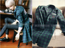 1/3 BJD 70cm chest 32-35cm male doll green plaid fleece shirt clothes outfit
