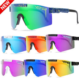 Polarized Pit Viper Cycling Sunglasses Sport Goggles TR90 Mirrored Outdoor UV400