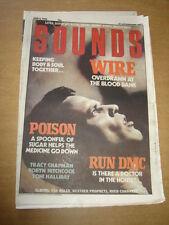 SOUNDS 1988 JUNE 4 WIRE POISON RUN DMC TRACY CHAPMAN VAN HALEN DAVID LEE ROTH <