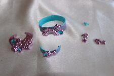 Barbie Jewel Secrets HTF lot set metallic purple blue belt bracelet earrings