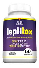 Leptitox - Bhb and 800Mg Proprietary Blend - 60 Capsules - 1 Month Supply