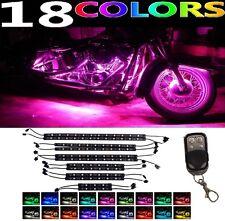 12pc LED Bright UnderGlow Neon Lights Strip Kit for Suzuki GSX-R1000 Motorcycles