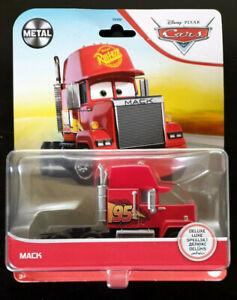 Disney Pixar Cars Mack Team 95 Semi Truck Cab, Mattel Deluxe Die-cast Card Wear