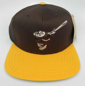 SAN DIEGO PADRES MLB VTG SWINGING FRIAR LOGO SNAPBACK RETRO 2-TONE CAP HAT NWT!