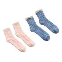 2 paires de chaussettes chaudes et douces pour femmes