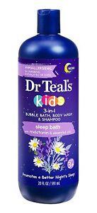 Dr Teals Kids 3-in-1 Bubble Bath, Body Wash & Shampoo Sleep Bath (1) 20 FL.OZ
