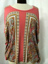 H&M PINK WITH PAISLEY PRINT TOP SIZE XS/S