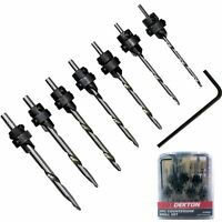 Dekton 7pc Hss Screw Countersink Drill Bit Set Pilot Hole For Plastic Wood Bits