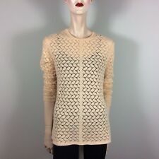 TSE Damen Pullover XL 42 Apricot Rosa 100% Cashmere Oberteil Top Knit Luxus Styl