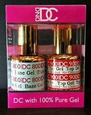 DND DC Soak Off Gel Base Coat & Top Coat No Cleanser LED/UV 6oz 18ml Duo Set