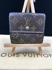 LV1408 Louis Vuitton Monogram Canvas Leather Elsie Trifold Wallet   Make offer!