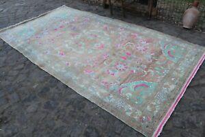 """Vintage Handmade Turkish Oushak Area Rug 9'9""""x5'2"""""""