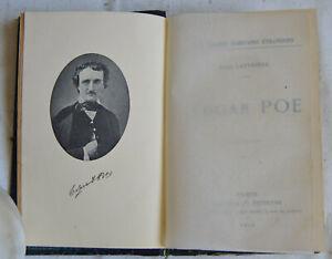 1911 Edgar Poe Par Emile Rouviére frontispice édition Bloud reliure cuir BE