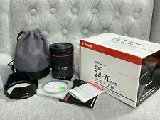 Canon Ultrasonic EF 24-70 f /2.8 L II USM Lens w/ Case LP1219 Hood EW-88C