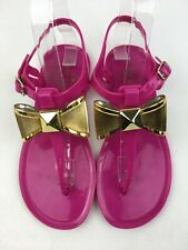 Kate Spade Jelly Bow Flat sandals Women's Size 5B, Fuchsia 2238