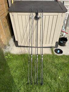 3 X free spirit ctx 10ft carp rods