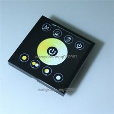 Touch Panel Dimmer Controller For White Warm White Dual Color LED Strip Lamp -BK