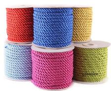 15 m /Roll Nylon Cord Necklace 5mm Twisted Satin Finish Polyester Jewelry Cord