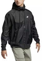Nike Men's Sportswear Windrunner Hooded Windbreaker Jacket  AR2191-010 Size XL