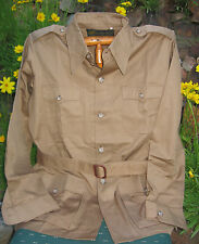 Vtg HUNTING WORLD NYC Safari Bush Jacket KHAKI 40 - Epaulets NOS - BROKEN BUTTON