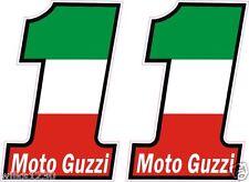 2 Moto Guzz Motorcycle Italian bike flag decal car van bus truck Sticker Scooter