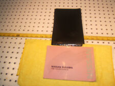 Nissan 1990 Maxima Genuine Nissan owner's OEM 1 Manual & Nissan 1 Pouch Only