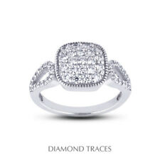 Certified Diamonds 950 Plat. Right Hand Ring 1 1/2 Ctw E Vs1 Round Cut Natural