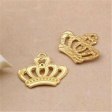 15X Tibetan Gold Imperial crown Charms Pendant Findings Jewelry Wholesale GU1023