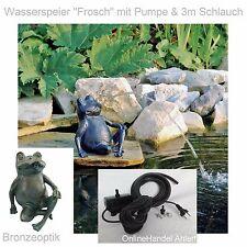 estanque bomba Escultura de agua RANA figura jardín strompumpe