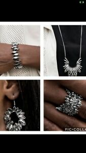 New PAPARAZZI Jewelry Oct '20 FASHION FIX SET #4-Bracelet,Earrings,Necklace,Ring