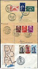 LUXEMBURG 1951-1957 vier schöne FDC mit 478-483 etc ca 475€(64638c