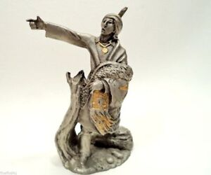 Jim Ponter Fine  Pewter SEQUOYA 1992 FM Western Chief ColL Figurine Signed