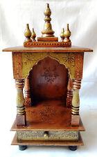 Wooden Handcrafted Hindu Temple Mandir Pooja Ghar Mandap For Worship / Home Art